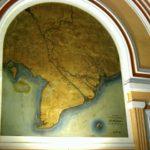 Karte von Vietnam in der alten Post