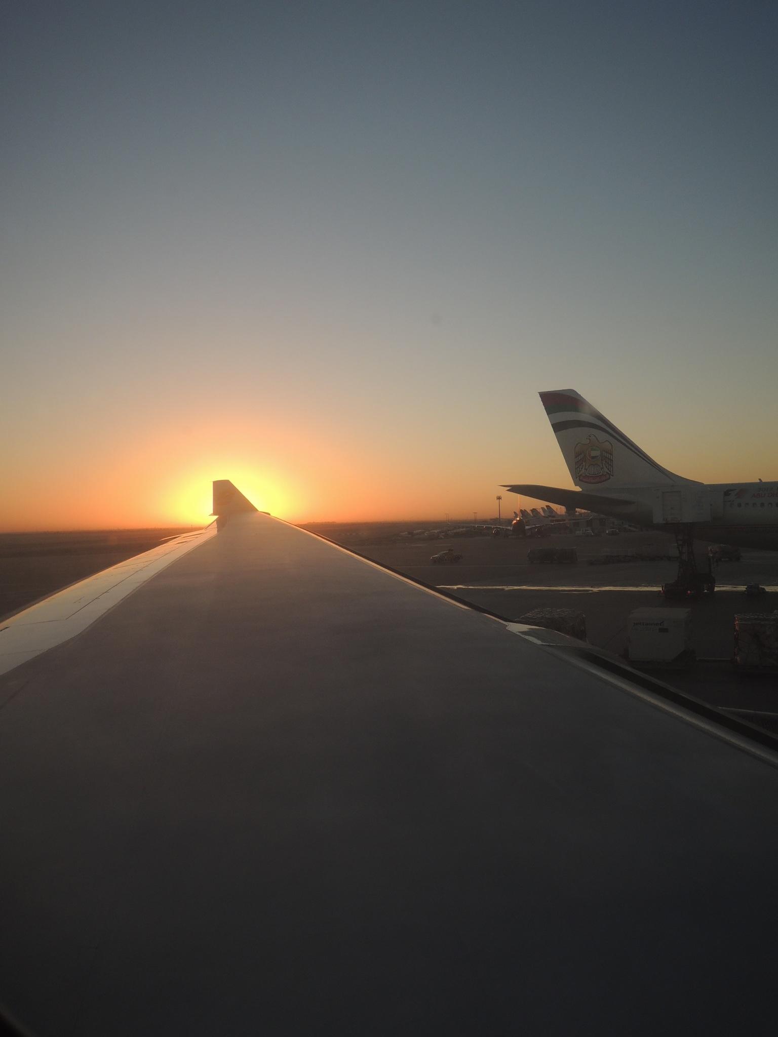 Sonnenaufgang vom Flugzeug