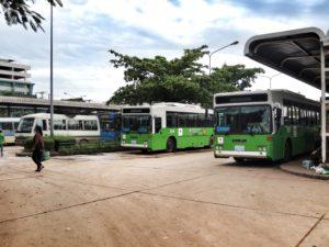 Busse in Vientiane